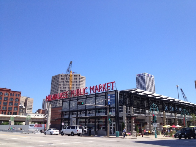 The Milwaukee Public Market: A fun place to stop and have a  look around, or eat if you're an omnivore.