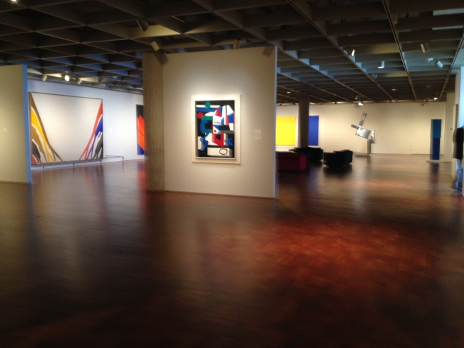 To give you an idea of the space these works are in: