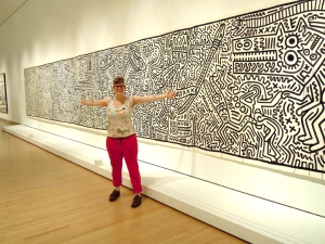In New York at the Haring Exhibit.  Image courtesy of Kim Guare.